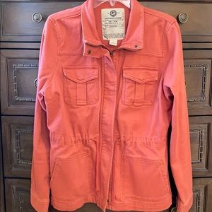 Lucky Brand women's coral colored utility jacket